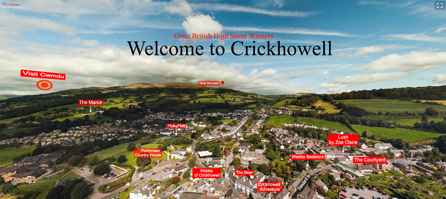 Visit Crickhowell virtual tour