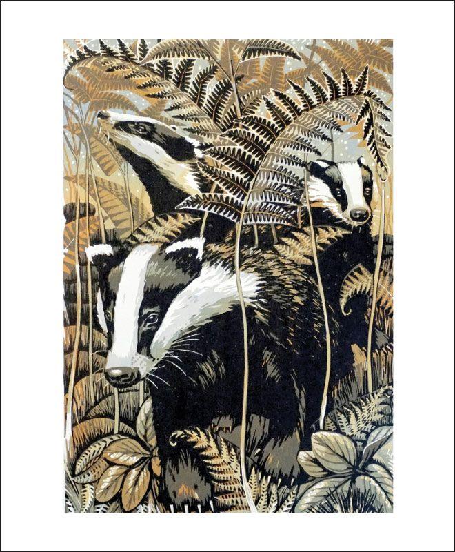 """Image Description of """"Card- Martin Truefitt-Baker- Badgers""""."""