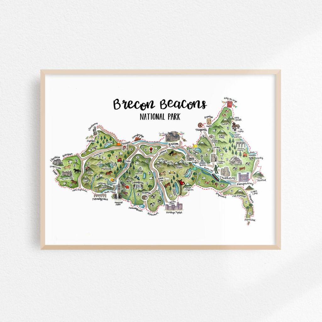 "Image Description of ""Brecon Beacons National Park Map ""."