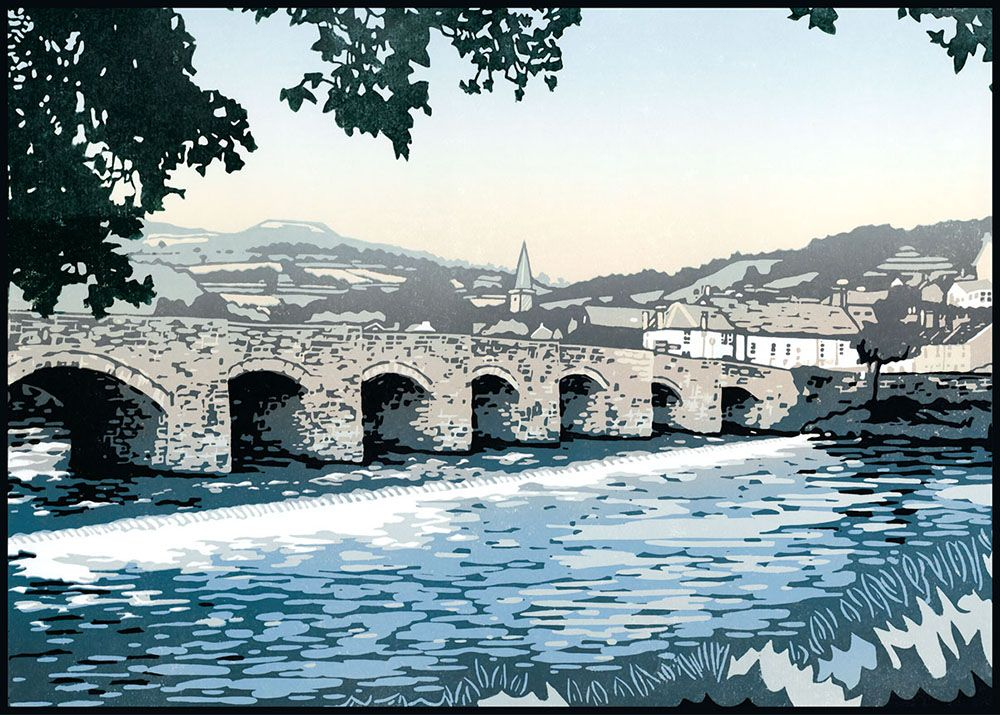 """Image Description of """"Lee Wright - 'Over the Usk' card""""."""