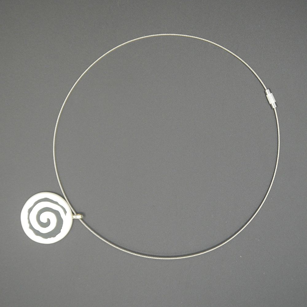 "Image Description of ""Liz Lawrence – porcelain neckpiece on silver""."
