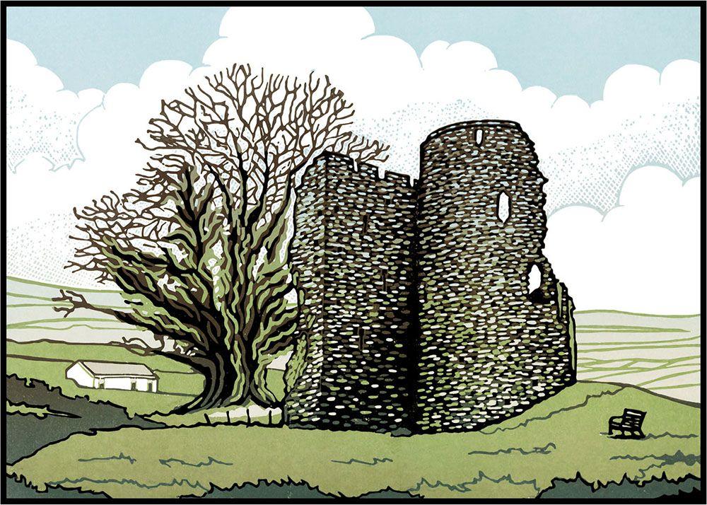 "Image Description of ""Lee Wright - 'Crickhowell Castle' card""."
