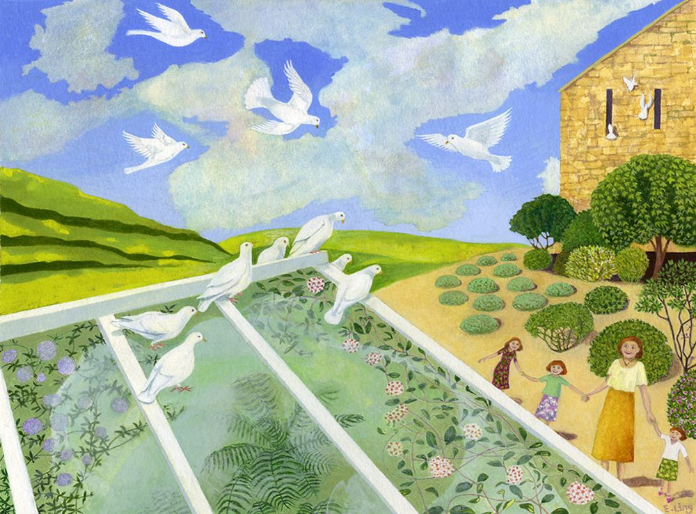 "Image Description of ""Ellie Ling – 'Enchanted by Doves'""."