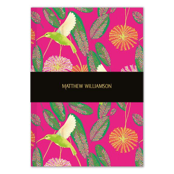 Deluxe A5 Notebook - Hummingbirds
