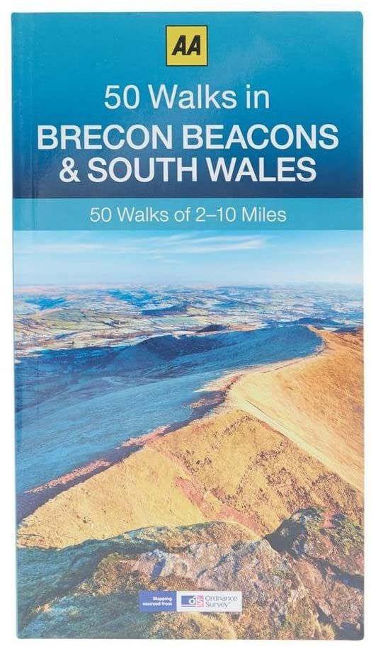 """Image Description of """"50 Walks in Brecon Beacons and South Wales""""."""