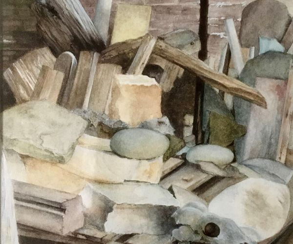 Margaret Harris, Sculptor's Workshop – winner, Watercolour Category.jpg