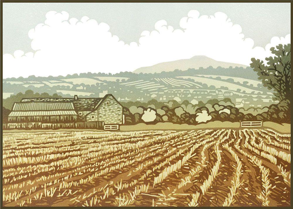 "Image Description of ""Lee Wright - 'After the Harvest' card""."