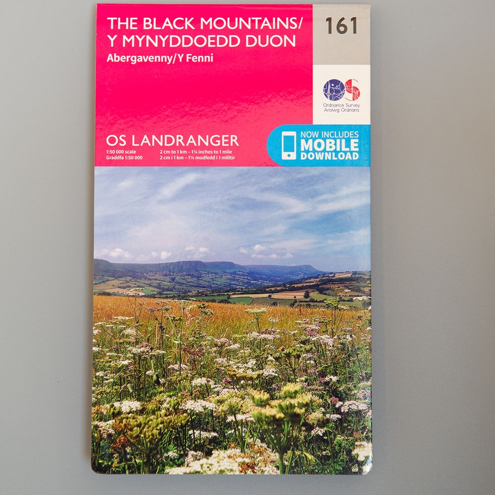 "Image Description of ""OS Landranger – the Black Mountains""."
