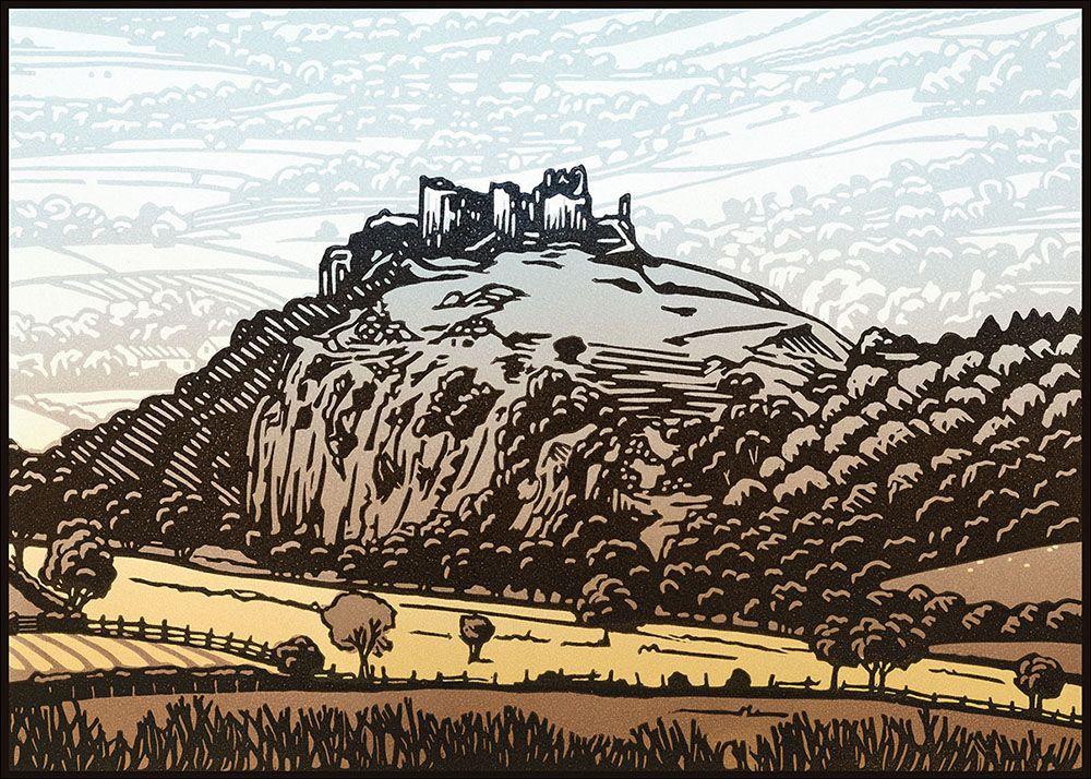 "Image Description of ""Lee Wright - 'Carreg Cennen Castle' card""."