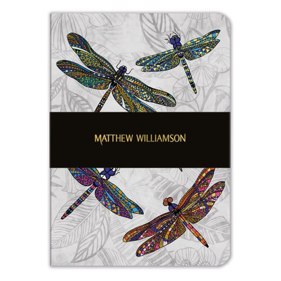 "Image Description of ""A5 Notebook - Dragonfly Dance""."