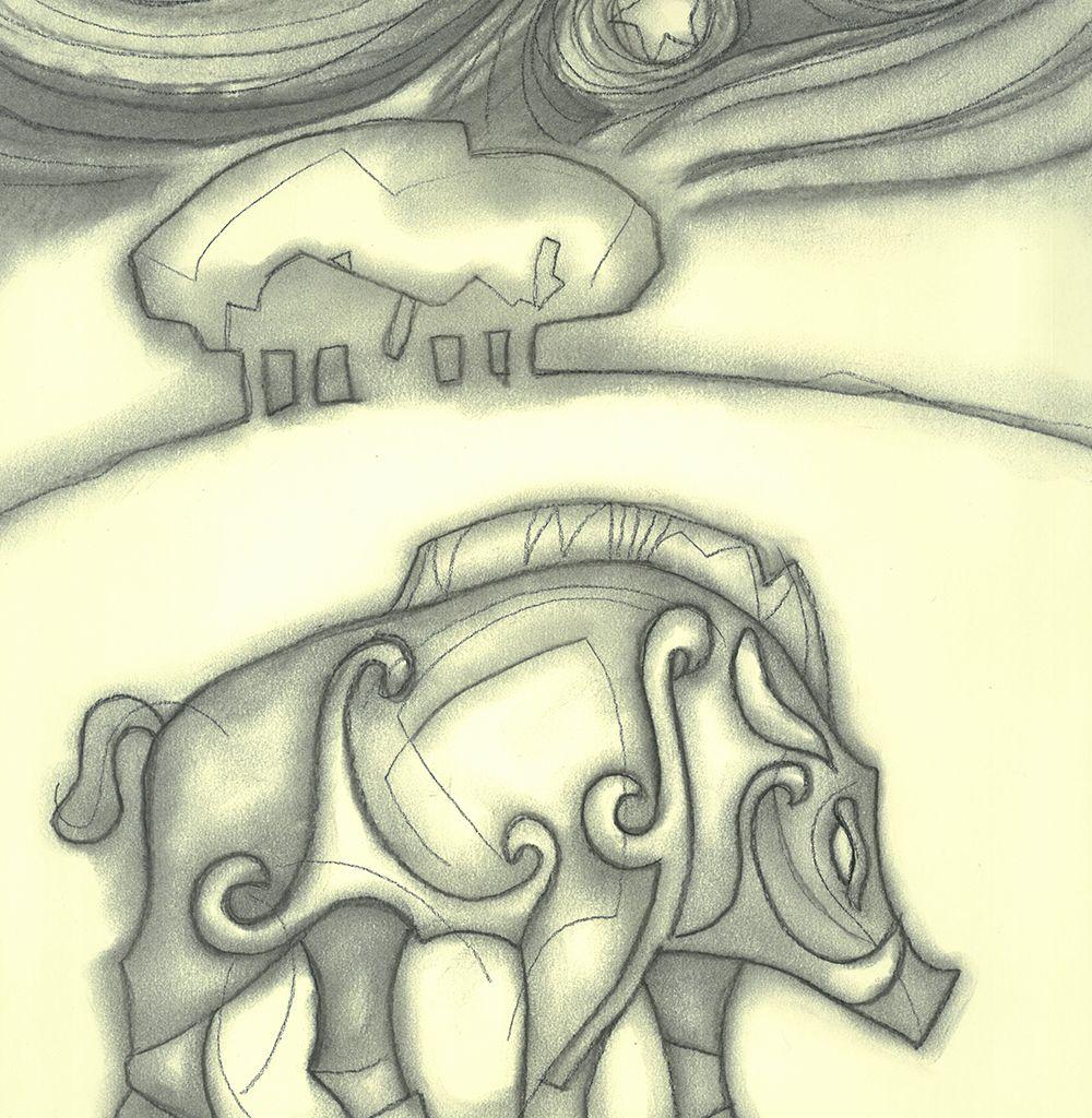 "Image Description of ""David England – 'Celtic Wild Boar'""."