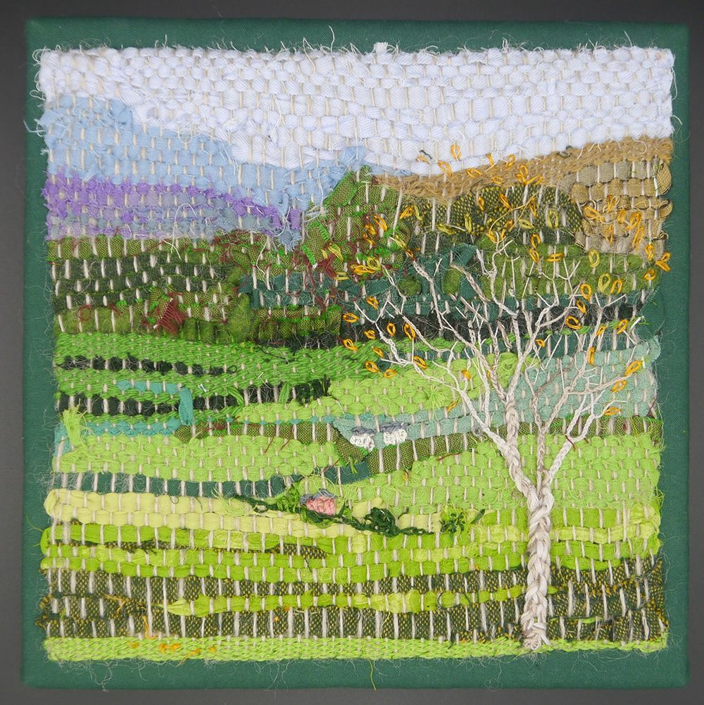 "Image Description of ""Mary Gladstone – 'Rag Rug Landscape'""."
